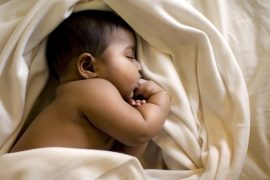 Indian baby sleeping