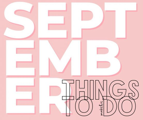 Things to do this September 2019